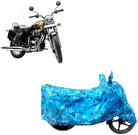 ABS AUTO TREND Two Wheeler Body Cover For Royal Enfield Bullet 350 Blue