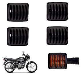 Acube Mart Combo of Indicator, Eyes, Tail and Head Light Grill for Motorbike (Splendor)