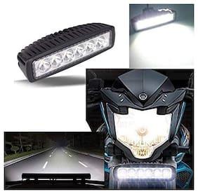Acube Mart Heavy Duty 6 LED Fog Light/Work Light Bar Spot Beam Lamp for All Bikes