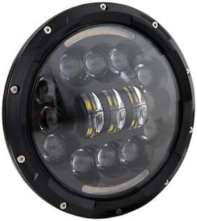 Acube Mart Half Cut 15 led 90W 15 LED Headlight for Royal Enfield Classic;Bullet 350;Thunder Bird;Standard;Electra;Thar