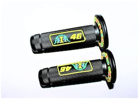 Acube Mart Rossi VR 46 Motorcycle Grip Set Universal for All Bikes and Scooty