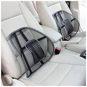 Acupressure Back Rest Car Seat Lumber Support Massager (Pack of 2) Black Color Lumber Sopport