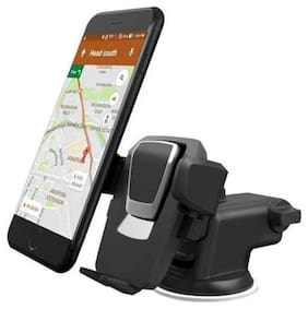 Adjustable Universal Car Mobile Holder - Car Mount 360 Rotation with Quick One Touch Technology
