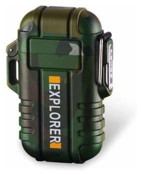 Afrodive  F12 NEW DESIGN ELECTRONIC WATERPROOF ARC CIGARETTE LIGHTER Cigarette Lighter  (Multicolor)water proof ARC
