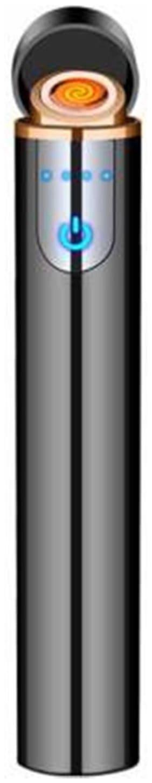 Afrodive  Premium Edition Rechargeable  Lighter with Sensor Durable USB Cigarette 001 Cigarette Lighter  (Black)