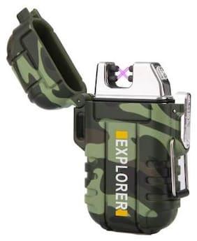 Afrodive Waterproof Flameless Electric Lighter-Dual Arc Plasma Beam Lighter-USB Rechargeable-Windproof