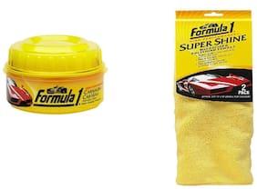 Air show -Formula1 Combo of 2 pc Carnauba Paste Wax (230 g)& Formula 1 Super Shine Microfiber Polishing Towels 2 pc