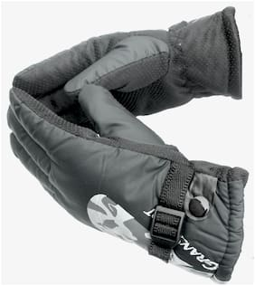AlexVyan Designing Black Imported Snow Proof(Fur Inside) Warm Winter Protective Riding Gloves Cycling Byke Bike Motorcycle for Men Boys Male Gents