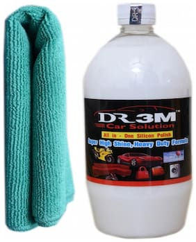 ALL-IN ONE SILICON POLISH 1000ml.+ GREEN CAR MICROFIBER CLOTH.