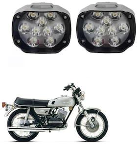 AllXPert 9 LED X 2 Motorcycle Headlight Fog Light Led e-Bike Scooter ATV Motor Headlight Lamp For Bajaj Avenger For Yamaha RX 100