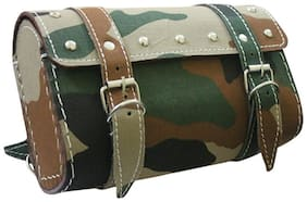 AllXPert Military Design Recatangle Saddle Bag for Royal Enfield Royal