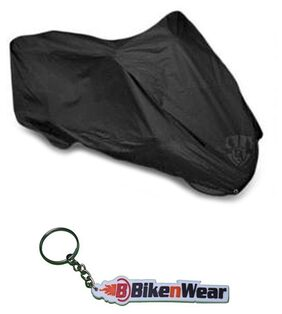 Almos Bike Black Body Cover For Mahindra Centuro With Key Chain