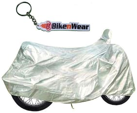 Almos Combo Body Cover For Royal Enfield Bullet Standard Silver With Key Chain