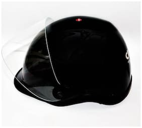 Amba Cliff Silver Black Helmet for bike