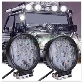 Andride 27W Flood Round Work Led Light Fog Driving Drl Offroad Suv Boat Truck Atv Car (1Pc)