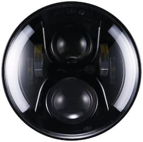 Andride 7inch Round Hi/Lo Cree LED Headlights with DRL & Halo Angel Eyes & Turn Signal for Royal Enfield