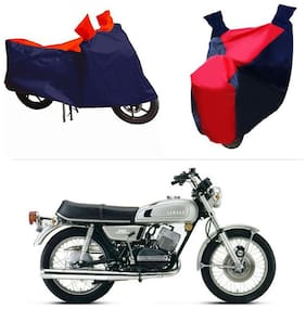 Andride ADTBC112 Bike Body Cover (Red and Blue) for Yamaha RX 100