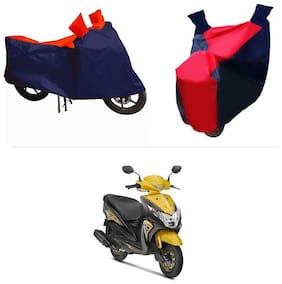 Andride ADTBC112 Bike Body Cover (Red and Blue) for Honda Deo