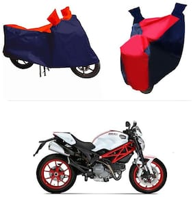 Andride ADTBC112 Bike Body Cover (Red and Blue) for Ducati Monster 796 S2R