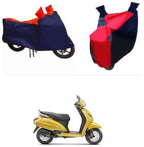 Andride ADTBC112 Bike Body Cover (Red and Blue) for Honda Activa 5G