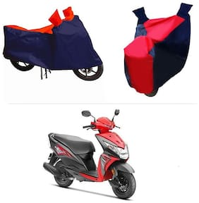 Andride ADTBC112 Bike Body Cover (Red and Blue) for Honda Dio