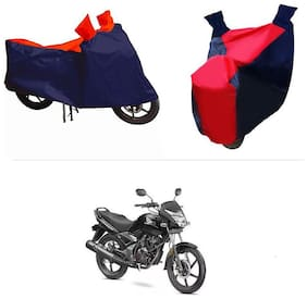 Andride ADTBC112 Bike Body Cover (Red and Blue) for Honda Unicorn