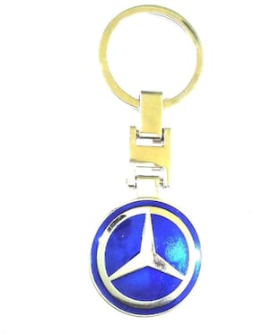 Andride Keychain Mercedes Benz Stunning Blue Metal Keyring accessories for Car Bike House Office Key Holder