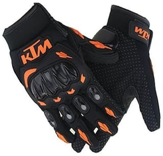 Andride KTM Gloves KTM Bike Riding Gloves Orange and Black (XL)