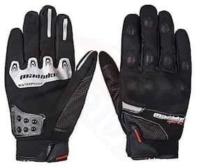 Andride Madbike Mad-14 Motorcycle Gloves Winter Warm Rainproof Windproof (Black, Large)