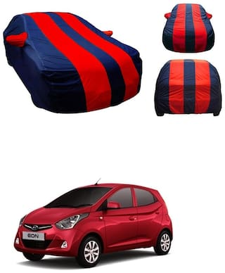 Andride Premium Fabric Triple Stiched, Mirror Pocket Car Body Cover for Hyundai Eon