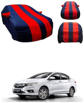 Andride Premium Fabric Triple Stiched, Mirror Pocket Car Body Cover for Honda City