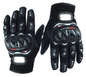 Andride Probiker Leather Motorcycle Gloves Black XL