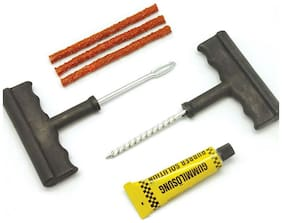 Andride PUNCTURE KIT 6 PIECE CAR BIKE TYRE TOOL 3 SAFETY STRIPS TUBLESS TYRE PUNCTURE KIT TYRE REPAIR TOOL SET