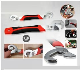 Andride Red&Black Snap N Grip Auto Adjustable Universal Wrench (Pack of 2)