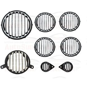 Andride Ultrafinished Heavy Metal Headlight Grill;Indicator;Eyes and Tail Light Grill for Royal Enfield (Classic-350)