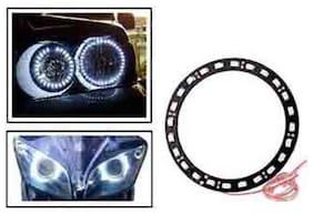 Angel Eyes LED Tube Strip Light for Car & Bikes Headlight - White