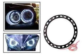 Angel Eyes LED Tube Strip Light for Car & Bikes Headlight - White