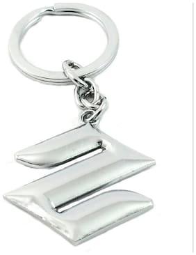 Anishop Maruti Suziki Car Logo Metal Keychain