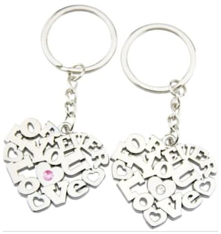 Anishop Valentine Gift Love Forever Couple Heart Key Chain
