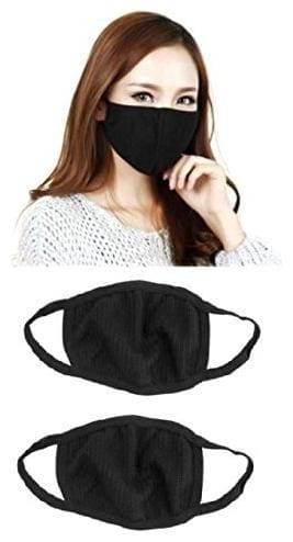 Anti Pollution Air Filter Mask Washable Dust For Pollution Smoke Allergy - Black (Pack of 5)
