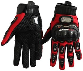 Antic Probiker PROBKR03 Full Racing Motorcycle Gloves - RED