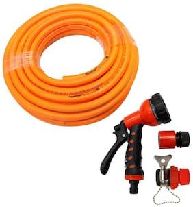 AquaHose Water Hose Set Orange 15m (12.5mm ID) Hose Pipe