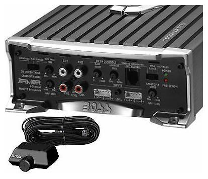New BOSS AUDIO Riot R1004 Mosfet 400 Watt RMS 4 Channel Car Power Amplifier Amp
