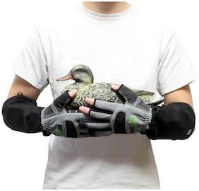 ArmOR Hand Glove | Cut Finger Animal Handling Gloves, Large