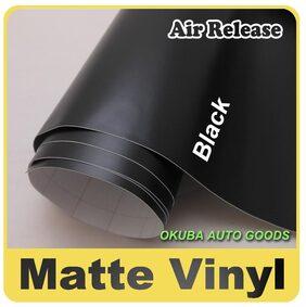ARWY 60 Cm (24 inch) X 127 Cm (50 Inch) Black Matte Vinly For Car Accessories Car Wrap For Car Sticker