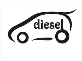ARWY Car Diesel Sticker Windows, Sides, Hood, Bumper Car Sticker (Pack of 2 Stickers