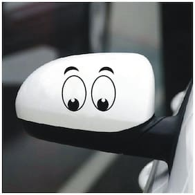ARWY Car stickers exteriorBoring Eyes Hood, Bumper, Sides Windows Car Sticker- White