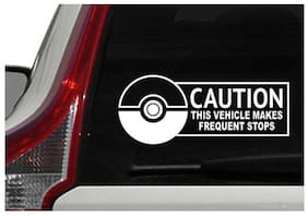 ARWY car stickers exterior caution this vehicel white car stickers