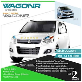 ARWY car stickers exterior Front and Rear Stylish Car Sticker For Maruti Suzuki Wagonr (A26 Gold) (Pack of 2)