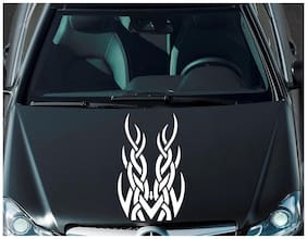 ARWY car stickers exterior Tribal Racing white Windows, Bumper, Hood ( Size 58.5 cm X 36.5 cm ) Car Sticker for Hyundai Elite I20